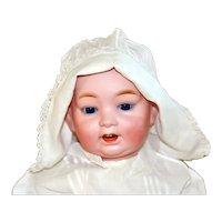 "Antique German 17"" Hertel Schwab Character Baby Doll"