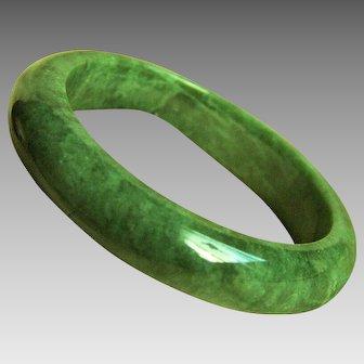 Amazing Vintage Natural Jadeite Jade Bangle Bracelet 70.7 g  58mm
