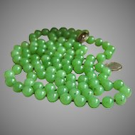 """Magnificent Chinese Export Hetian Nephrite Jade Silver Necklace 46.5"""" VARY RARE"""