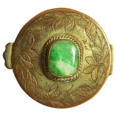 Vintage Chinese Jadeite Jade Pill Box 16.8 g