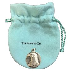 Tiffany & Co Silver Nature Eagle Head Charm Rare
