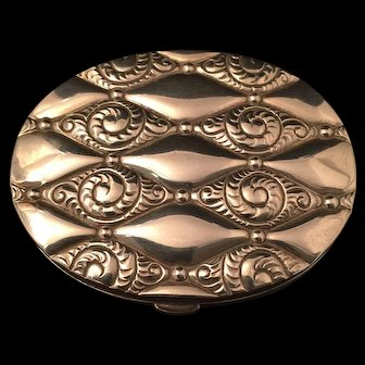 Sterling Silver Powder Compact By Evans