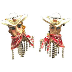 Lunch at the Ritz Cowboy & Cowgirl Earrings