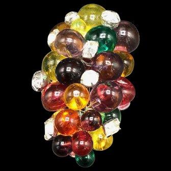 Eisenberg Topaz Glass Grapes Fur Clip