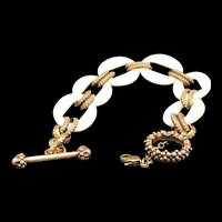 Dweck Mother of Pearl and Bronze Bracelet