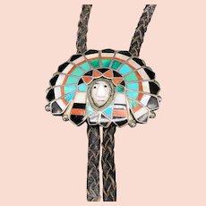 Inlaid Zuni Chief Bolo