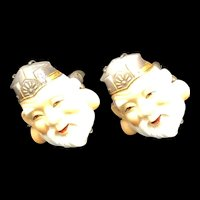 Toshikane Silver Cuff Links God of Longevity