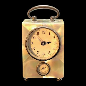 French Mother of Pearl Alarm Clock