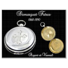 Antique French Sterling Silver Pyxid XIX. Paris