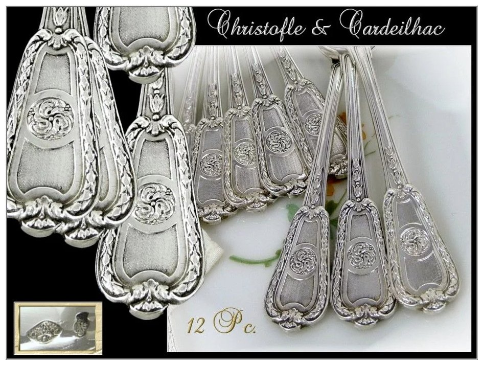 Christofle And Cardeilhac Antique French Sterling Silver