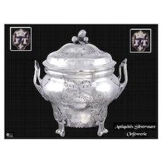 J. Teissere - XVIII°th. Century French Sterling Silver Sugar Bowl - Marseille