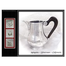 First quarter of XVIIIth. c. Antique French Sterling Silver Creamer by Antoine Willems, was received in 1715 in Calais
