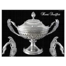 Henri Soufflot - Stunning Antique French Sterling Silver Drageoir - Candy Box XIXth.c.