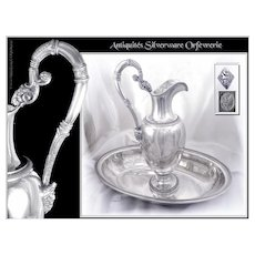 Very Rare Antique Italian Sterling Silver Ewer & Wash Basin Set Kingdom of Sardinia-  early 19th. c. - (1830/1840)