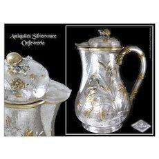 Edmond Tétard - Antique French Sterling Silver Coffee Pot Minerve 950