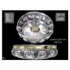 XVIII°. Antique Turkish / Ottoman Bowl of Hamman Silver - Mahmoud 1er 1730-1754