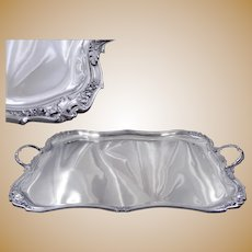Stunning Antique French Sterling Silver Serving Tray by Louis Coignet , End 19th. C.