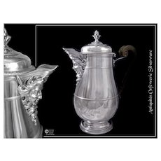 Paul CANAUX - Rare Antique French Sterling Silver CoffeePot - Louis XIV Style - 772 Gr.