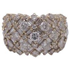 14K Gold 3.02 ctw Diamond Ring Size 6.75