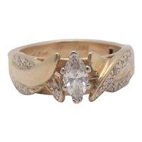 14K Super Fit Arthritis Diamond Wedding Ring .40ctw Size 6