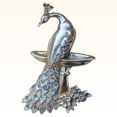Theda Peacock Sterling Silver Brooch Pin Vintage Statement