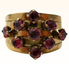 Vintage Ruby Harem Ring 14K Gold Size 6