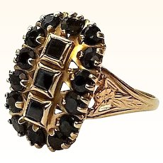 Sapphire 10K Yellow Gold Ring Vintage Size 8