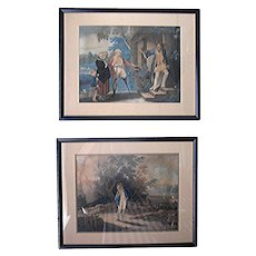 Antique Mezzo- prints by the Reverend Mathew Peters