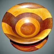 Vintage Wooden Treen Bowl hand made