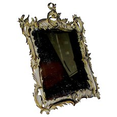 Antique Bronze Mirror signed NB&ID