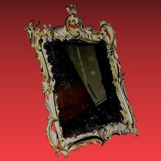 Antique Solid Brass Mirror by National Bronze & Iron Works Signed Circa 1895