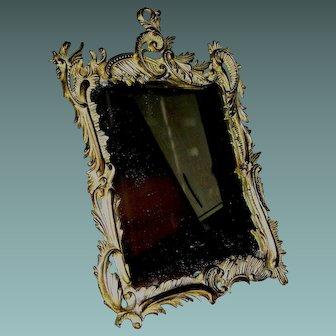 Antique Bronze Mirror by National Bronze & Iron Works c 1895