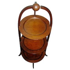 Vintage mahogany stand, 3 tiers