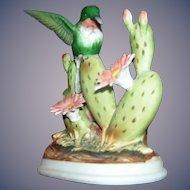 Vintage Porcelain Figurine of a Hummingbird