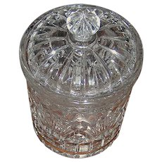 Pressed glass heavy crystal biscuit/candy jar