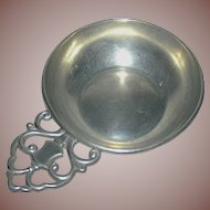 Vintage pewter nappy marked Royal Holland Pewter
