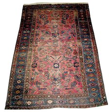 Vintage Hamadan Oriental Persian Rug