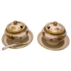 Pair of Oriental Condiment Dishes