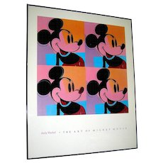 Vintage print Of Andy Warhol's Mickey Mouse