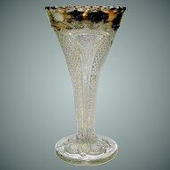 Vintage EAPG trumpet vase pattern Massachusetts
