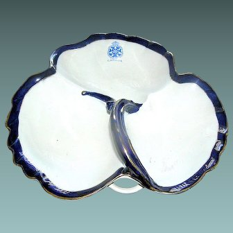 Royal Doulton China divided dish. Canada, marked Imperial Daughters of the Empire Canadian