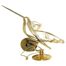 Statue of a hummingbird, gold plated