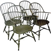 Colonial Revival set of 4 matching ARM CHAIRS furniture set LOCAL PICK UP