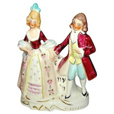 Vintage Ironstone, porcelain, Colonial Couple statue signed Coventry