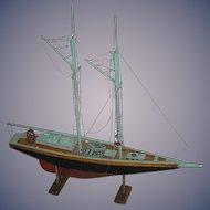 Handmade model of a Sailboat