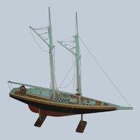 Vintage Model of a Sailboat
