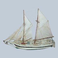 Vintage Model of a two masted Sailboat