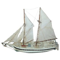 Antique Model Two Masted Sailboat