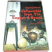 Vintage book, Collectible Iron, Tin, Christian Revi, Copper, & Brass, Castle Books, 1974