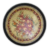 Antique Toleware Tray, 19th century, French
